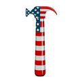 hammer with a flag of united states vector image