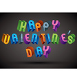 Happy Valentines Day typography vector image vector image