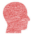 head profile fabric textured icon vector image vector image