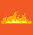 horizontal long wild fire for your design vector image vector image
