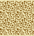 leopard seamless texture vector image vector image