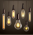 light bulbs realistic set vector image vector image