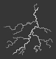 lightning bolt on black background thunderbolt vector image vector image