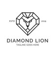 lion head diamond logo design inspiration vector image vector image