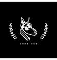Logo symbol sign stencil dog head Unique technique vector image vector image