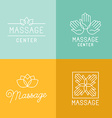 Massage logos vector image vector image