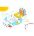 media book online library concept e-book e vector image