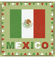 mexico flag decoration vector image vector image