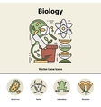 Modern color thin line concept of biology vector image vector image
