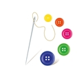 Needle with buttons vector image