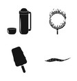 ocean sea travel and other web icon in black vector image vector image