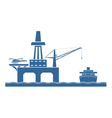 Offshore oil platform vector image
