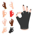 ok hands success gesture okey yes agreement signal vector image vector image