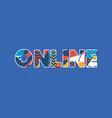 online concept word art vector image