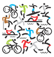 Outdoor sports icons background vector image vector image