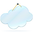 Pinned glass cloud frame vector image vector image