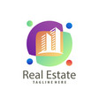 real estate building construction logo and icon vector image vector image