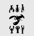 Rock Lobster Silhouettes vector image vector image