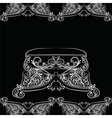 Royal Baroque Classic chair vector image vector image