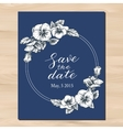 save date wedding invitation vector image vector image