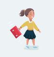 schoolgirl first-grader girl in a dress vector image vector image