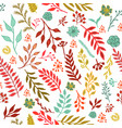 seamless vintage autumn pattern vector image