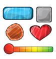 set buttons bright different forms buttons vector image