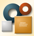 Set of elements for web design and infographics vector image