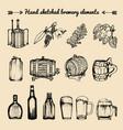 set of vintage brewery elements retro vector image vector image