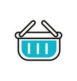 shopping basket social media icon line and fill vector image