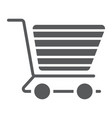 shopping cart glyph icon e commerce and store vector image