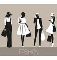 silhouettes fashion women vector image