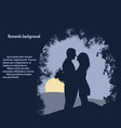 silhouettes of lovers under the arch vector image