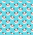 smiling panda faces seamless pattern vector image vector image