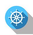 steering wheel handwheel -flat shadow icon vector image