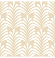 Stylized white on beige leaf pattern vector image