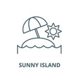 sunny island line icon linear concept vector image