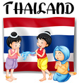 Thai festivals and flag vector image