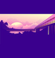 train journey dawn vector image