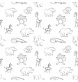 Wild animals seamless pattern cartoon style vector image