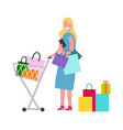 woman in process of shopping vector image vector image