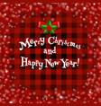 xmas card whit holly berry vector image