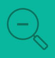 zoom out linear icon vector image vector image