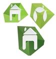 Collection of paper icons on polygonal triangular vector image