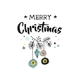 Merry Christmas greeting cards with Xmas tree vector image