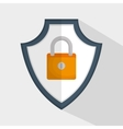 shield padlock secure data icon vector image