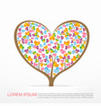 002 heart tree element for valentine day and vector image