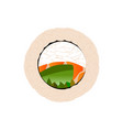 abstract delicious sushi vector image