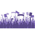 activists protest political riot sign banners vector image