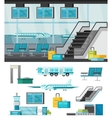 Airport Orthogonal Concept vector image vector image